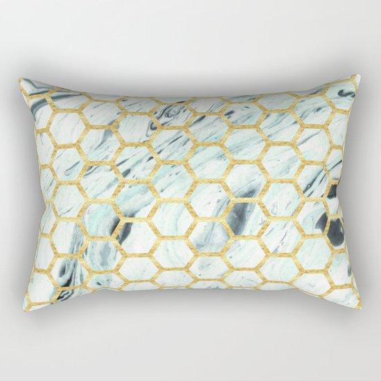 Teal + Gold #society6 #decor #buyart Rectangular Pillow