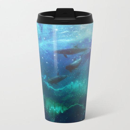 Mystic dolphins Metal Travel Mug