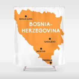 Bosna-Herzegovina Map Shower Curtain