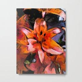 Lilies of Orange 2 Metal Print