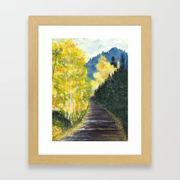 Autumn Mountain Road Framed Art Print