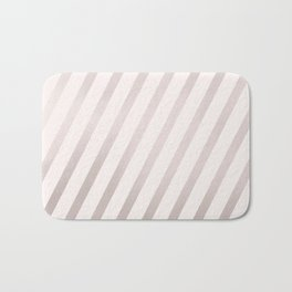 Rose Gold and Pink Diagonal Stripes Bath Mat