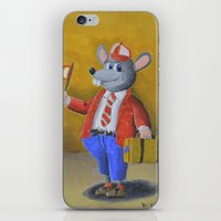 college iPhone & iPod Skins featuring College Rat by Wintoons