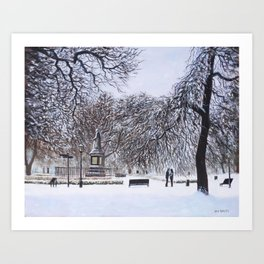 Southampton Watts Park in the Snow Art Print