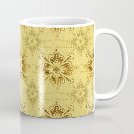 Gold on Gold Ornament Pattern Coffee Mug