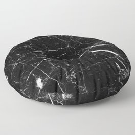 Black and White Marble Floor Pillow
