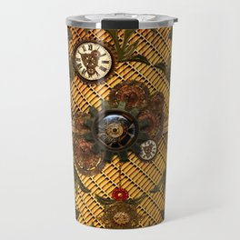 Noble steampunk design with clocks and gears Travel Mug