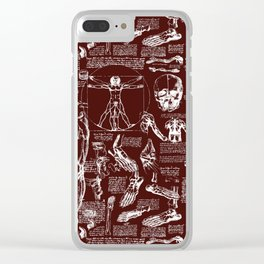 Da Vinci's Anatomy Sketchbook // Mahogany Clear iPhone Case