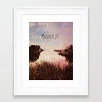 wanderlust Framed Art Prints featuring Wanderlust by Brianne Lanigan