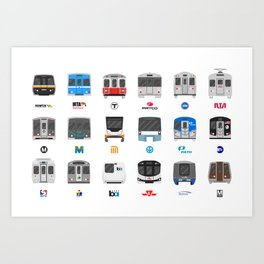 Subway Icons Art Print