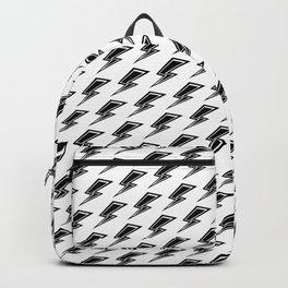 Lightning - Black and White Backpack