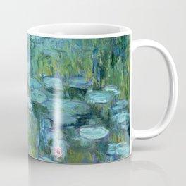 Claude Monet Water Lilies / Nymphéas teal aqua Coffee Mug