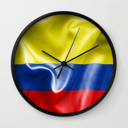 Colombian Flag Wall Clock