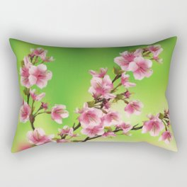 Cherry Blossom - Variation 3 Rectangular Pillow