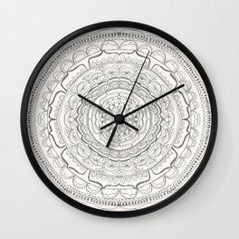 Black & White Lace Wall Clock