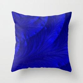 Renaissance Blue Throw Pillow