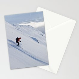 Skiers at Hatcher Pass (2) Stationery Cards