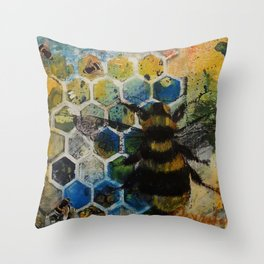 Bee Kind to One Another Throw Pillow
