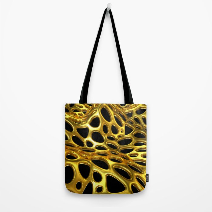 Voronoi Gold Surface Tote Bag