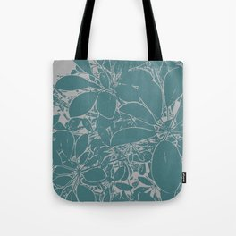 Umbrella Plant In Aqua Tote Bag