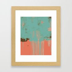 Infinity abstract art print pink turqoise Framed Art Print