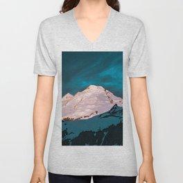 Mt Baker Blue Unisex V-Neck