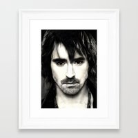 lee pace Framed Art Prints featuring Pace Lee in watercolors by Fatima Alshaali