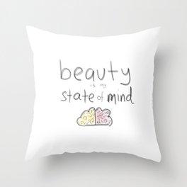 I am Beautiful Colour Throw Pillow
