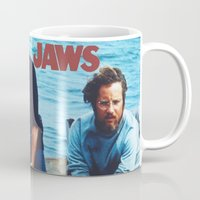 jaws Mugs featuring Jaws by KP Designs