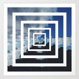 SKY ILLUSION Art Print
