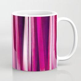 Burgundy Rose Stripy Lines Pattern Coffee Mug