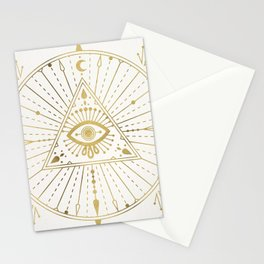 All-Seeing Eye Mandala – Gold Palette Stationery Cards