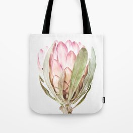 Pink Protea Flower Tote Bag