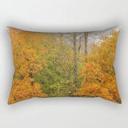 Leaning Into Autumn Rectangular Pillow