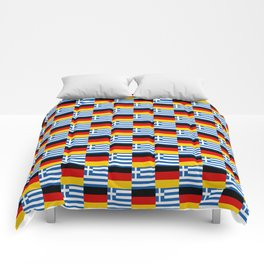 Mix of flag : Germany and greece Comforters