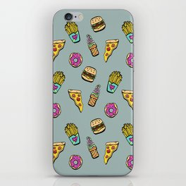 Fast Food Heaven Illustrated Pattern iPhone Skin