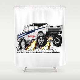 65 Comet Gasser - rev 1 Shower Curtain