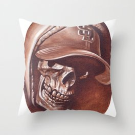 skull and cap Throw Pillow