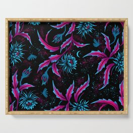 Queen of the Night - Black Purple Serving Tray