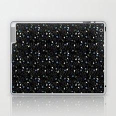 Florcitas black Laptop & iPad Skin