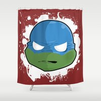 tmnt Shower Curtains featuring TMNT LEO by studio1six