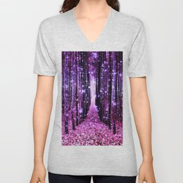 Magical Forest Pink & Purple Unisex V-Neck