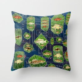 I KEEP MY FISHES CIRCUITRY IN A NEBULA Throw Pillow