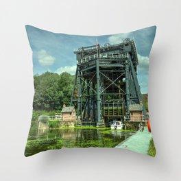 Anderton Boat Lift Throw Pillow