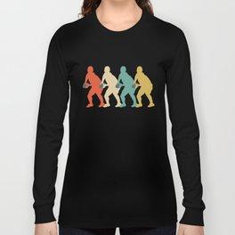 Scrum Half Retro Pop Art Rugby Graphic Long Sleeve T-shirt