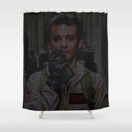 Venkman: Ghostbusters Screenplay Print Shower Curtain