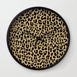 Neon Classic Leopard Wall Clock
