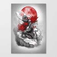 dragon Canvas Prints featuring Dragon by Marine Loup