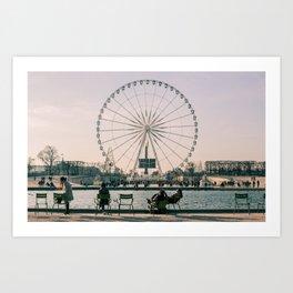 Ferris Wheel, Place de la Concorde, Paris, France Art Print