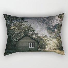 Mountain Cabin - Landscape and Nature Photography Rectangular Pillow